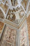 moulding museumstuckatur vatican för korridor Arkivbild