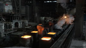 Moulds with hot metal 14 stock video