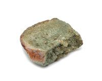 Mouldy bread, isolated Stock Photos