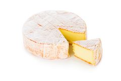 Mouldy sliced cheese Royalty Free Stock Photos
