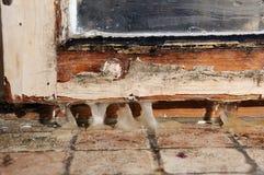 Moule en bois de tissu pour rideaux photos libres de droits