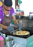 Moule frite dans la pâte lisse d'oeufs, Thaïlande Photographie stock libre de droits