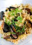 Moules avec du riz Image libre de droits