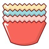 Moules de cuisson icône, style de bande dessinée Photo libre de droits