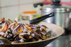 Moules de mer frites par émoi images libres de droits