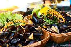 Moules du plat Photo libre de droits