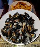 Moules Frites image stock
