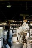 Moules industriels réfractaires - nouveaux réfractaires abandonnés de château, nouveau château, Pennsylvanie Photos stock