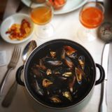 Moules Mariniere. Royalty Free Stock Images