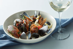 Moules marnieres mussels Stock Photos