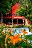 Moulin à eau célèbre de Hodgson dans l'Ozarks Images libres de droits