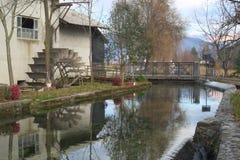 Moulin à eau de roue Photo stock