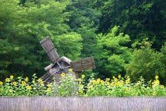 Moulin à eau en bois Image libre de droits