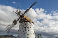 Moulin à vent à Fuerteventura Photographie stock libre de droits