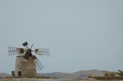 Moulin à vent à Fuerteventura (Espagne) Photographie stock libre de droits