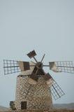 Moulin à vent à Fuerteventura (Espagne) Photo libre de droits