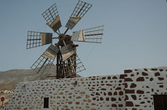 Moulin à vent à Fuerteventura (Espagne) Image libre de droits