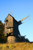Moulin à vent à l'horizontal d'automne Photo stock