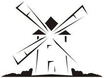 Moulin à vent illustration de vecteur
