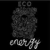 moulin à vent blanc d'isolement par énergie d'eco Photographie stock