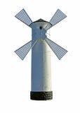 Moulin à vent d'isolement Photographie stock