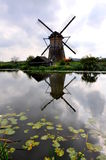 Moulin à vent dans Kinderdjik Images libres de droits