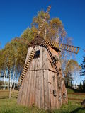 Moulin à vent dans Kolacze, Pologne Image libre de droits