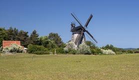 Moulin à vent dans le benz sur l'île d'Usedom Photos libres de droits
