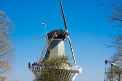 Moulin à vent dans le jardin de Keukenhof photo stock