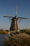 Moulin à vent dans le polder Images libres de droits