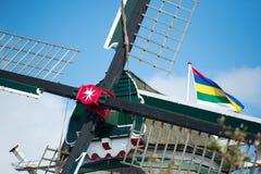 Moulin à vent de détail à l'île Terschelling du wadden de Néerlandais Image libre de droits