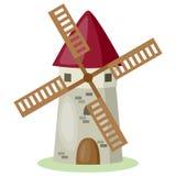 Moulin à vent de dessin animé Image libre de droits