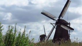 Moulin à vent de Kinderdijk banque de vidéos