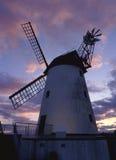 Moulin à vent de Lytham, crépuscule, Lancashire Photo stock