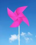 Moulin à vent de papier rose Photographie stock libre de droits