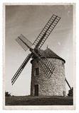 Moulin à vent de photo de vintage vieux Photo libre de droits