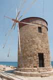Moulin à vent de Rhodes Image libre de droits