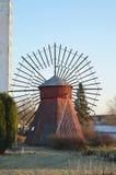 Moulin à vent en bois Photo stock