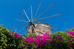 Moulin à vent en Grèce Photographie stock libre de droits