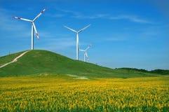 moulin à vent eolic Photos libres de droits