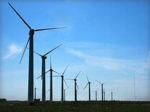 moulin à vent eolic Photo libre de droits