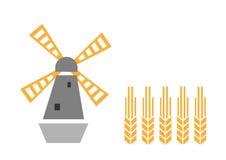 Moulin à vent et oreille illustration de vecteur
