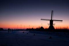 Moulin à vent hollandais Image libre de droits