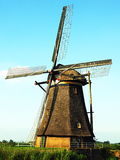 Moulin à vent hollandais - Kinderdijk Photos stock