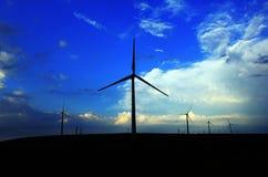 Moulin à vent le soir Photo libre de droits