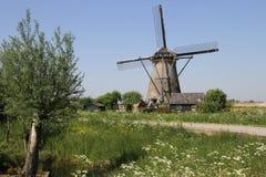 Moulin à vent néerlandais photo libre de droits