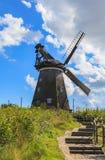 Moulin à vent néerlandais traditionnel dans le benz - Usedom Allemagne Photographie stock