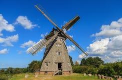 Moulin à vent néerlandais traditionnel dans le benz - Usedom Allemagne Images stock