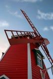 Moulin à vent rouge image stock