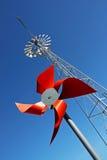 Moulin à vent rouge Image libre de droits